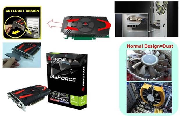 BIOSTAR Announces Flagship GTX 750 GFX Card