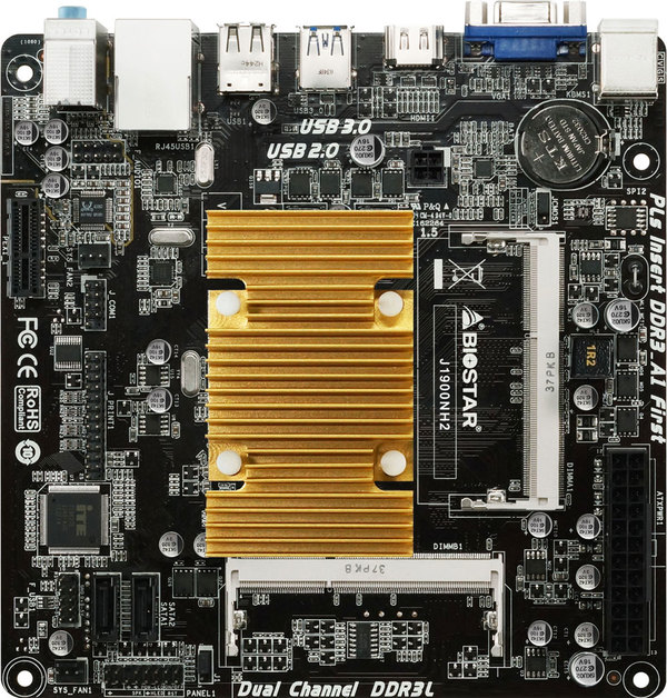 BIOSTAR's J1900NH2 Is The Mini-ITX for Flexible Use