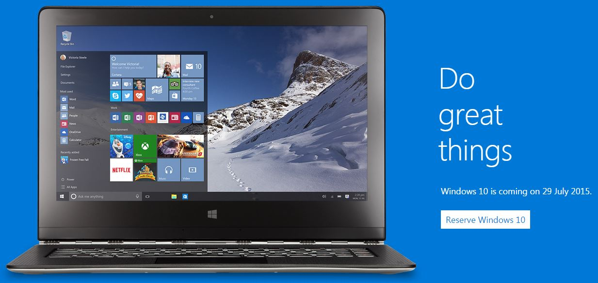 Microsoft Reveals Windows 10's Availability Next Month