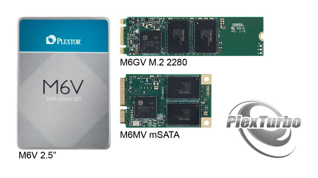 Plextor Releases New PlexTurbo & M6V Series SSDs