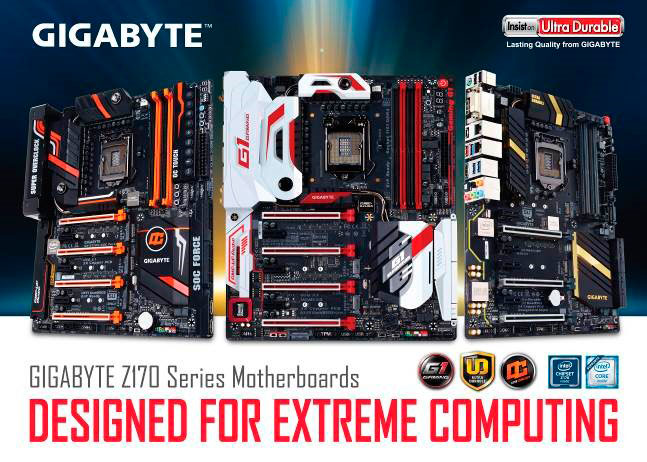 GIGABYTE Launches Intel 100 Series Motherboards