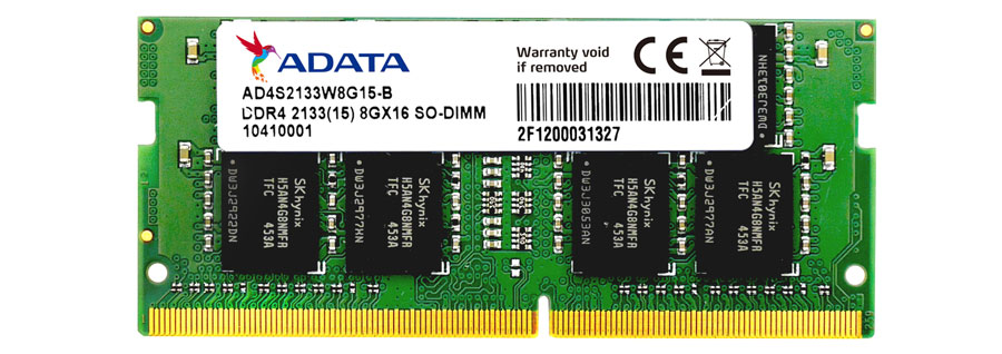 ADATA Launches Premier DDR4 2133 SO-DIMM Memory