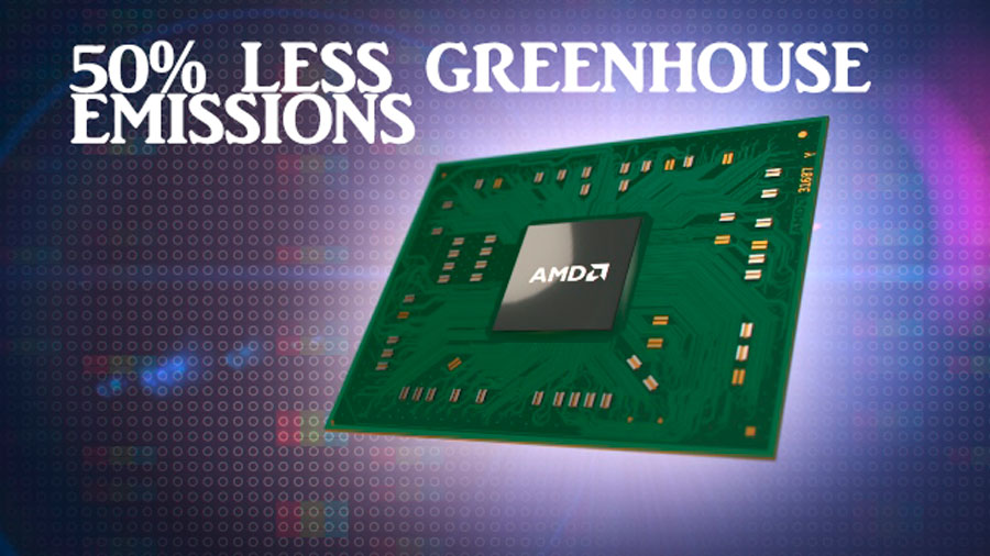 Study Shows Latest AMD Processors Reduces Greenhouse Emissions By 50%