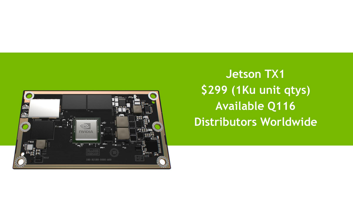 Nvidia Reveals 1 Teraflop Jetson TX1 Mini SuperComputer
