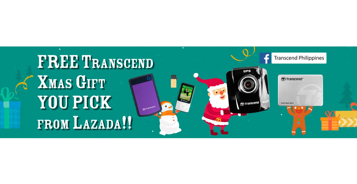 GIVEAWAY: Transcend Xmas Gift You Pick from LAZADA