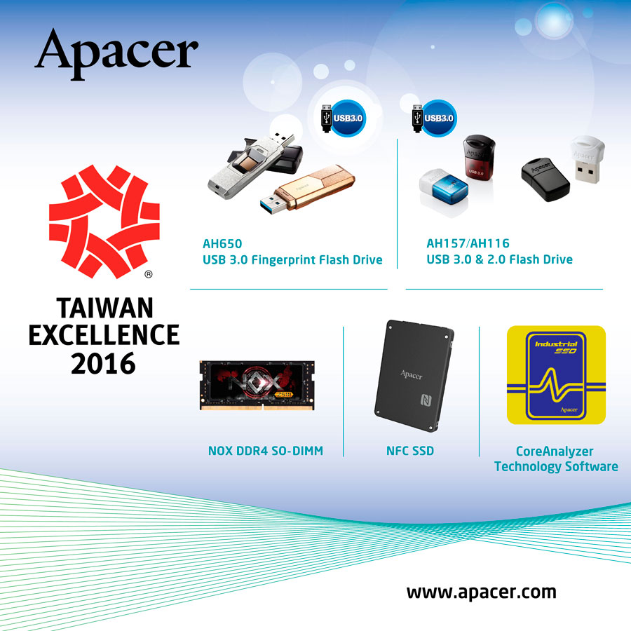 Apacer Receives 24th Taiwan Excellence Award!