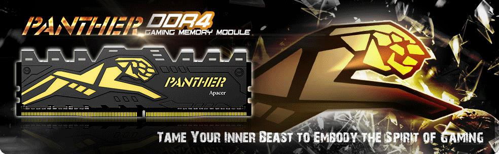 Apacer Shows Panther DDR4 Memory Modules