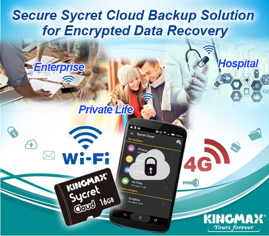 KINGMAX Sycret Cloud Protects Over Security Gaps