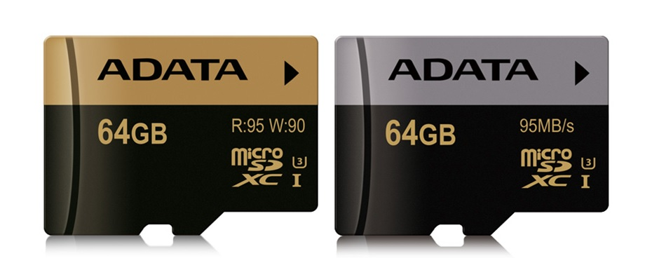 ADATA Releases XPG and Premier Pro microSDHC/SDXC UHS-I U3 Cards