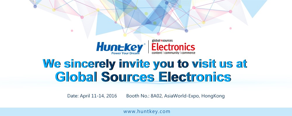 Huntkey to Present at Global Sources Electronics Show in Hong Kong in April
