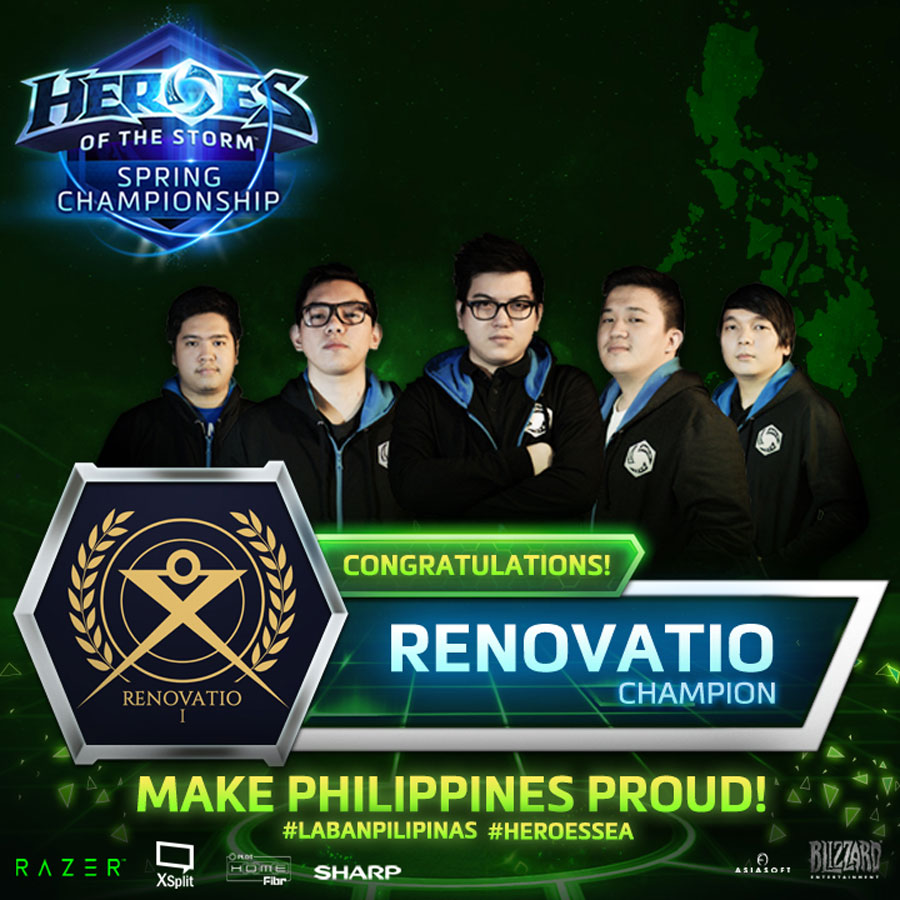 RENOVATIO To Represent PH @ HoTS World Finals
