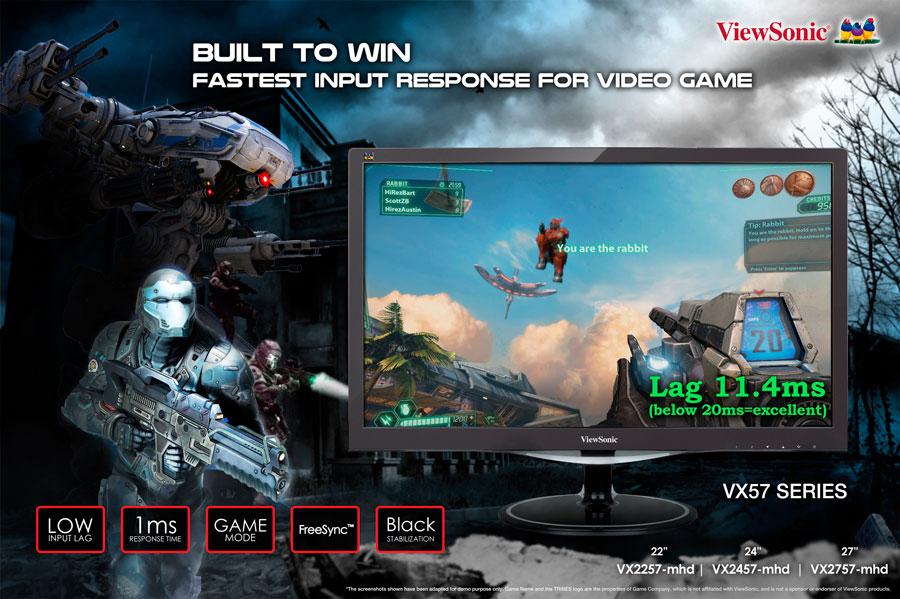 ViewSonic VX57 FreeSync Displays Announced