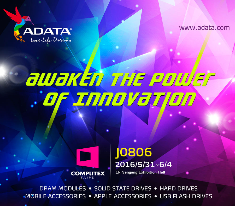 ADATA Awakens The Power of Innovation at Computex 2016