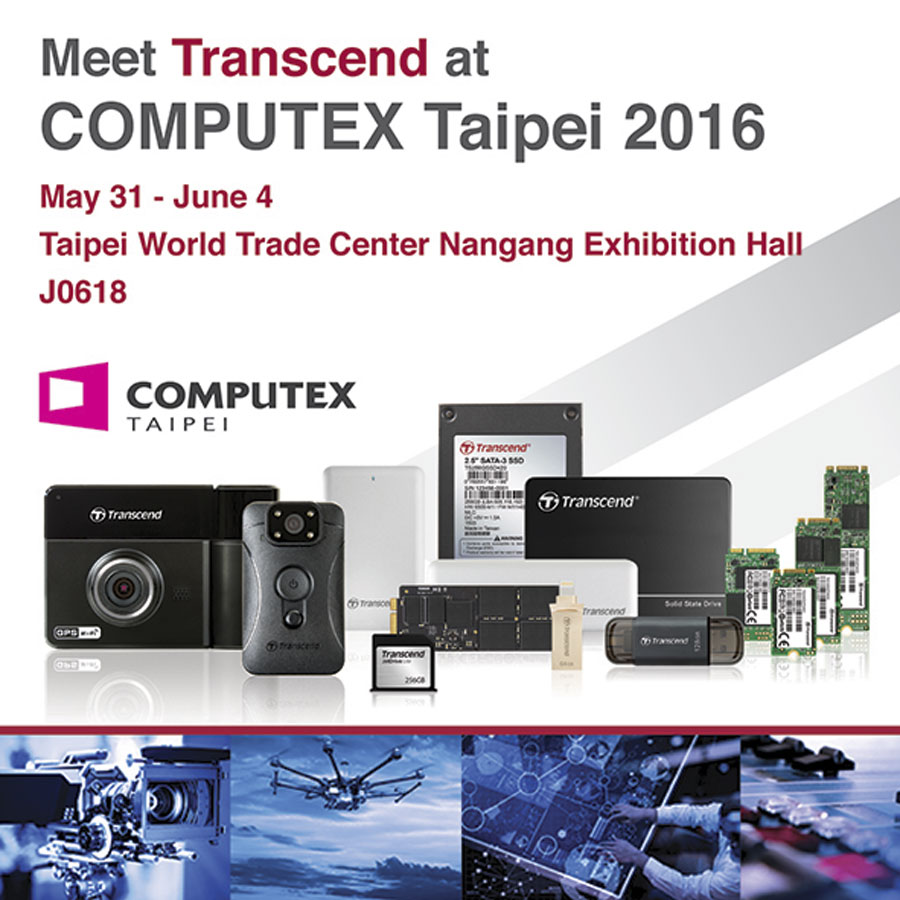 Transcend to Showcase Cloud Storage, and Embedded Solutions at COMPUTEX TAIPEI 2016