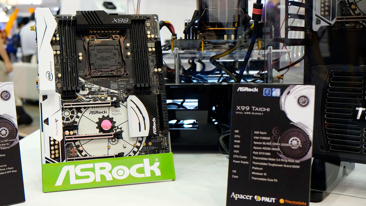 ASRock Unveils X99 Taichi, Wall of Boards, & Many More @ COMPUTEX 2016