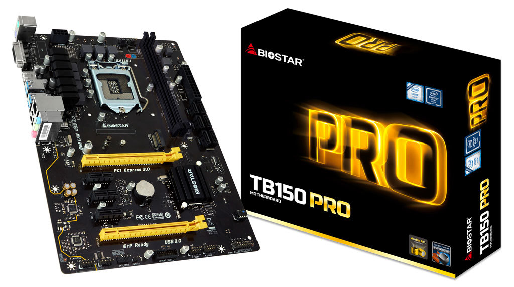 BIOSTAR TB150 PRO Motherboard Designed for Professional Mining