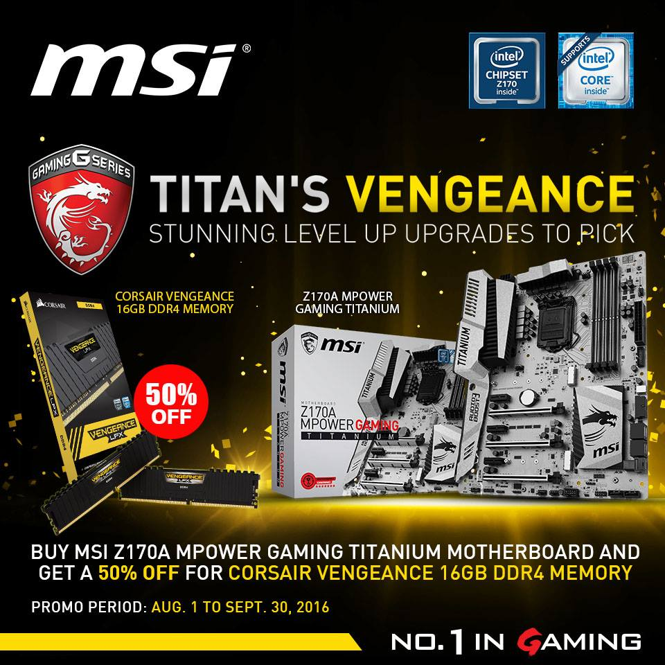 MSI PH Bundles Corsair Vengeance LPX DDR4 With MPOWER Titanium
