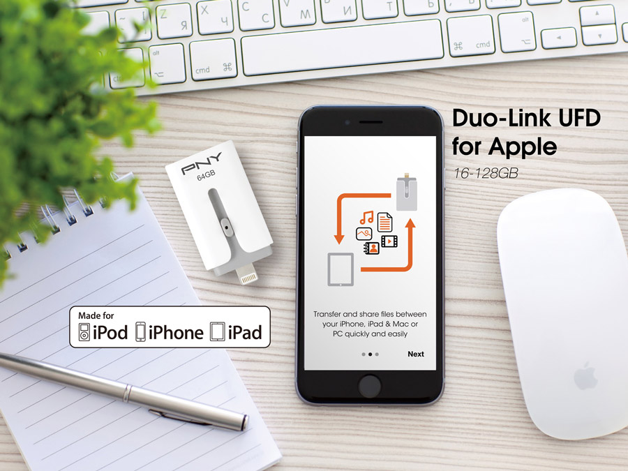 PNY Announces DUO-Link UFD for Apple Devices