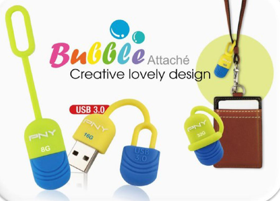 PNY Releases Fashionable V1 & Cute Bubble Attache Flash Drive