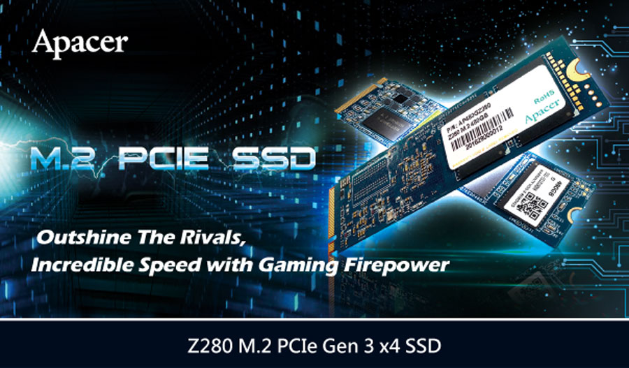 Apacer Introduces The Z280 M.2 PCIe Gen 3 x4 SSD