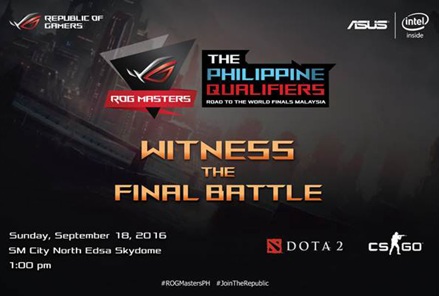 ASUS ROG Masters PH Finals Heads To SM North EDSA