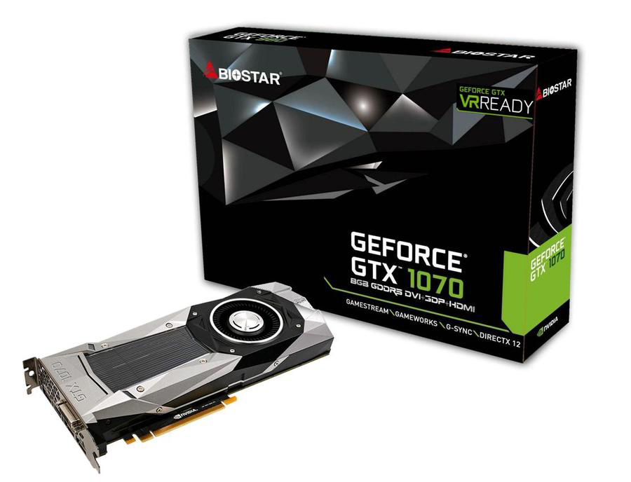 BIOSTAR Expands VR Gaming Ready Products with GeForce GTX 1070 Graphics