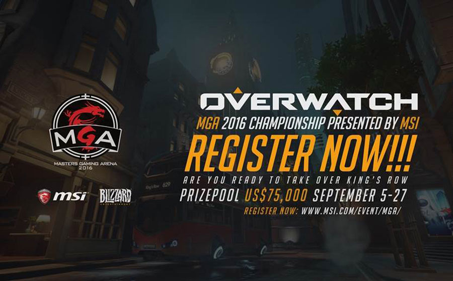 Register Now At MSI's MGA 2016 Overwatch Championship
