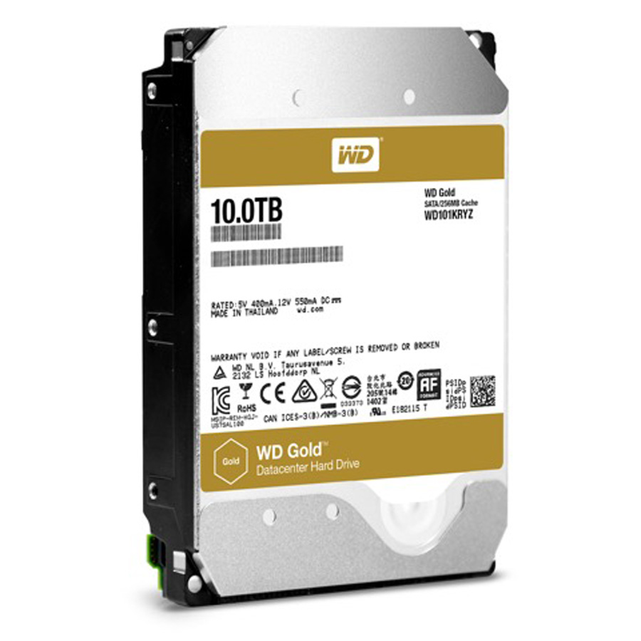 WD Releases 10TB WD Gold DataCenter HDD