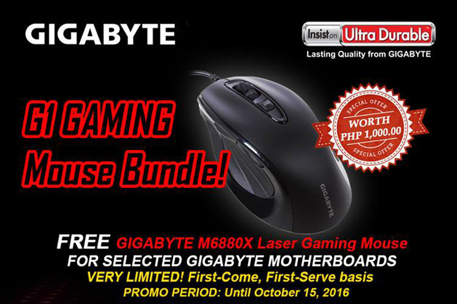 GIGABYTE Bundles M6880X Gaming Mouse With Motherboards