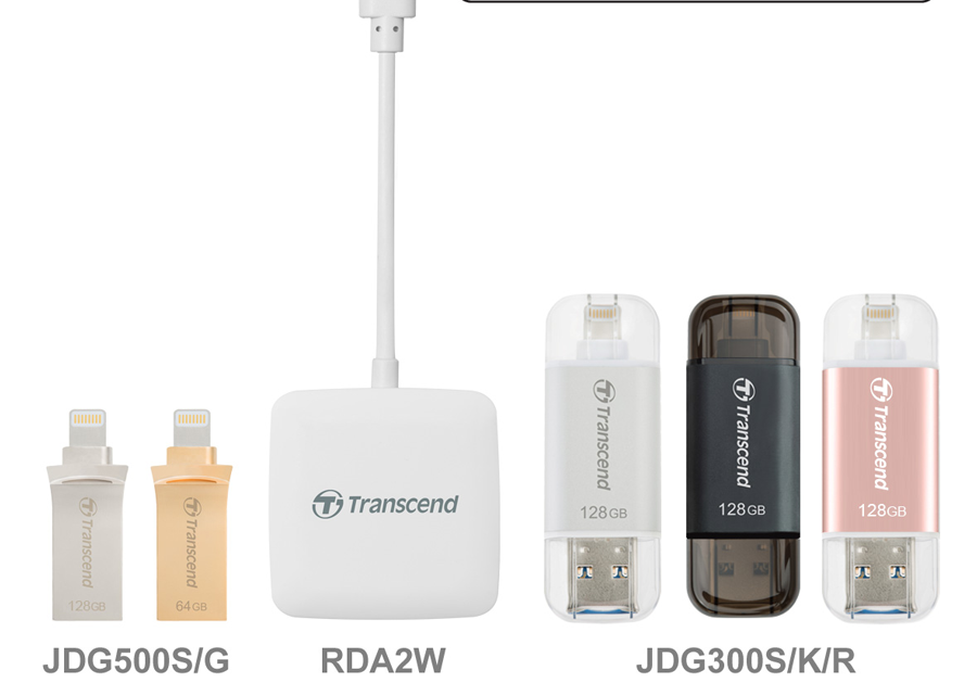 Transcend Launches Complete Lightning Line-up for Latest iOS Devices
