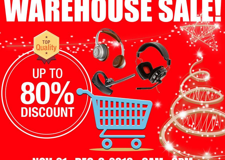 BANBROS Warehouse Sale 2016 Features Plantronics Edifier and Altec Lansing