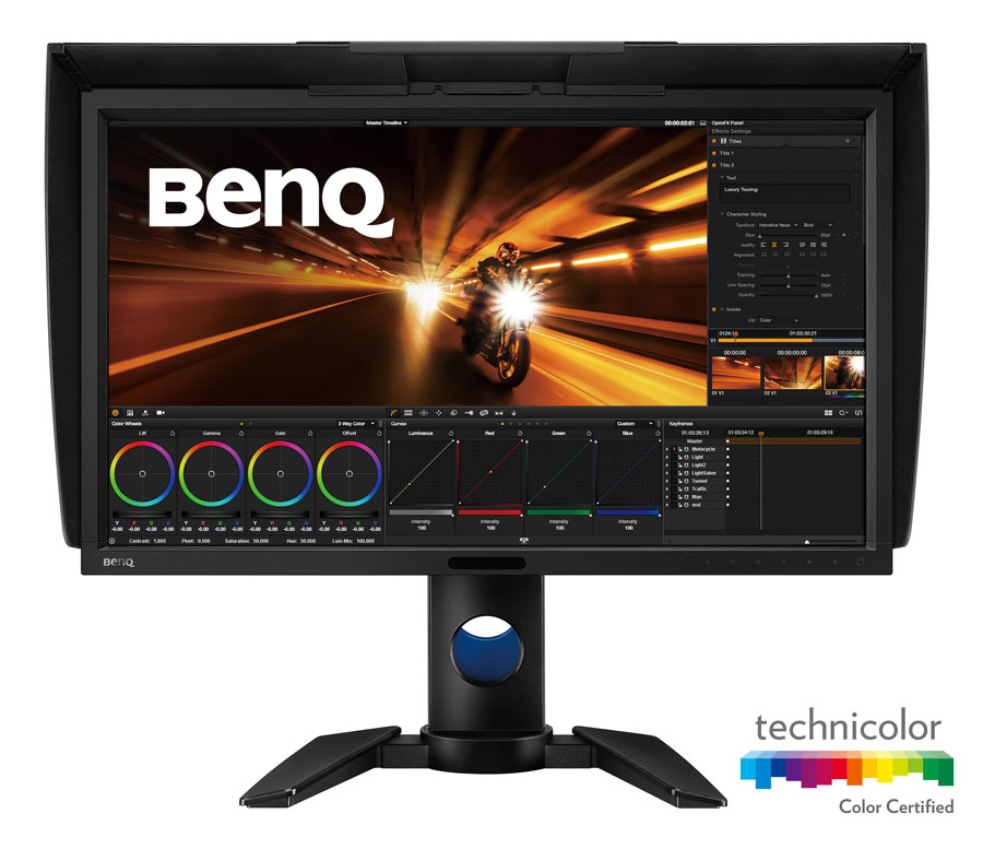 BENQ Reveals PV Series Post-Production Monitors
