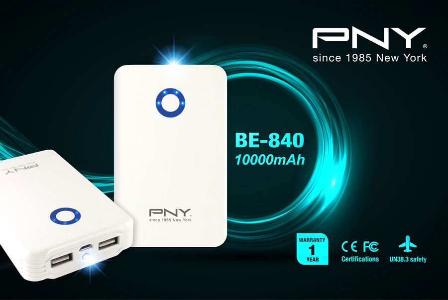 PNY Releases the BE-840 High Capacity Power Bank
