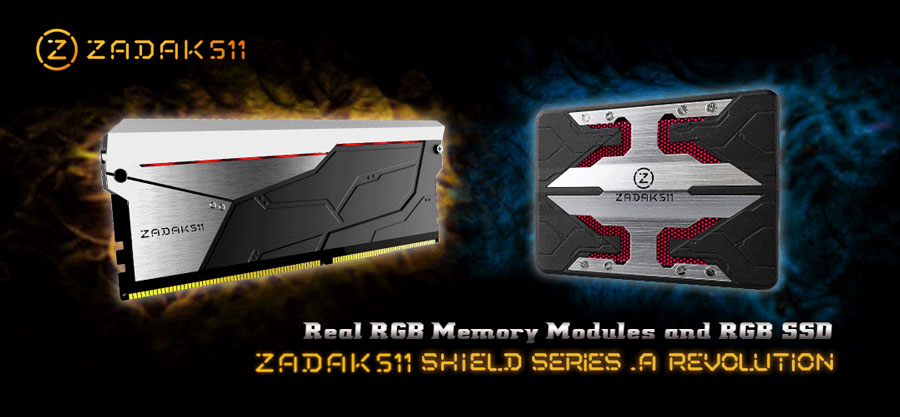 ZADAK511 Announces SHIELD RGB Memory Kit and SSD