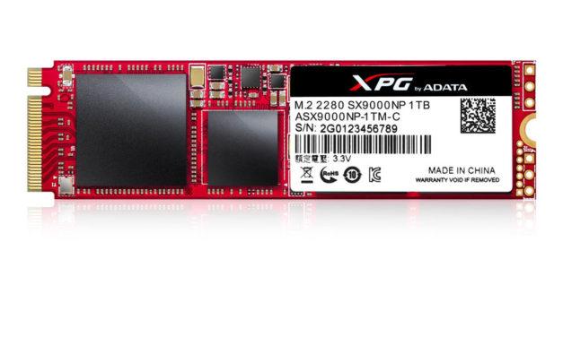 ADATA Releases theXPG SX9000 PCI-E 3.0 x4 NVMe 1.2SSD