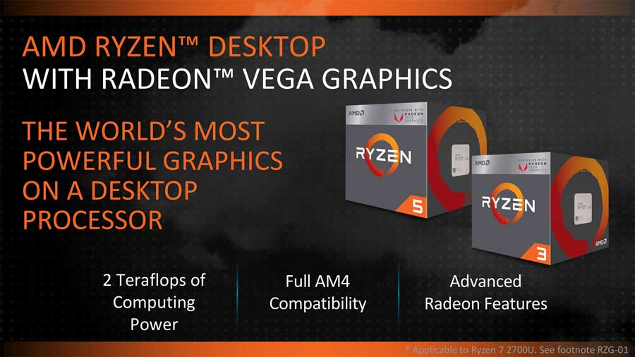 AMD At CES 2018: Ryzen 2000G With Radeon VEGA Previewed