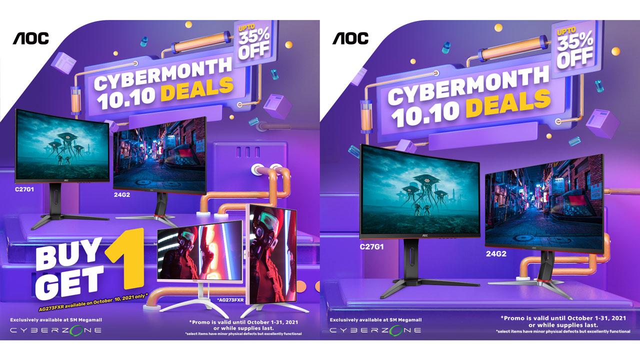 AOC Gaming Monitor SM 2021 Cyber Month PR 2