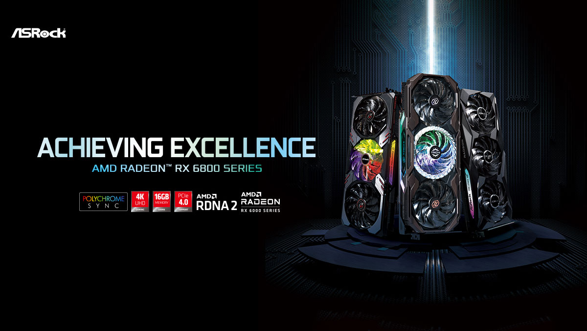 ASRock Launches AMD Radeon RX 6800 Series Graphics