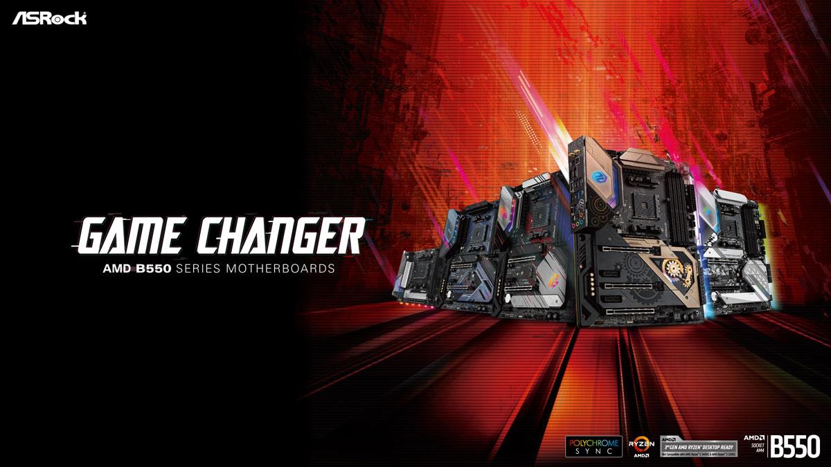 ASRock Reveals AMD B550 Motherboard Range