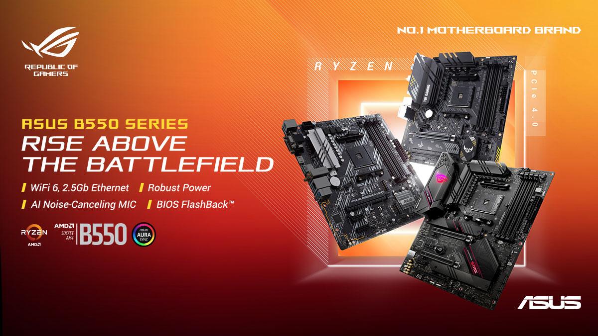 ASUS Announces AMD B550 Motherboard Range
