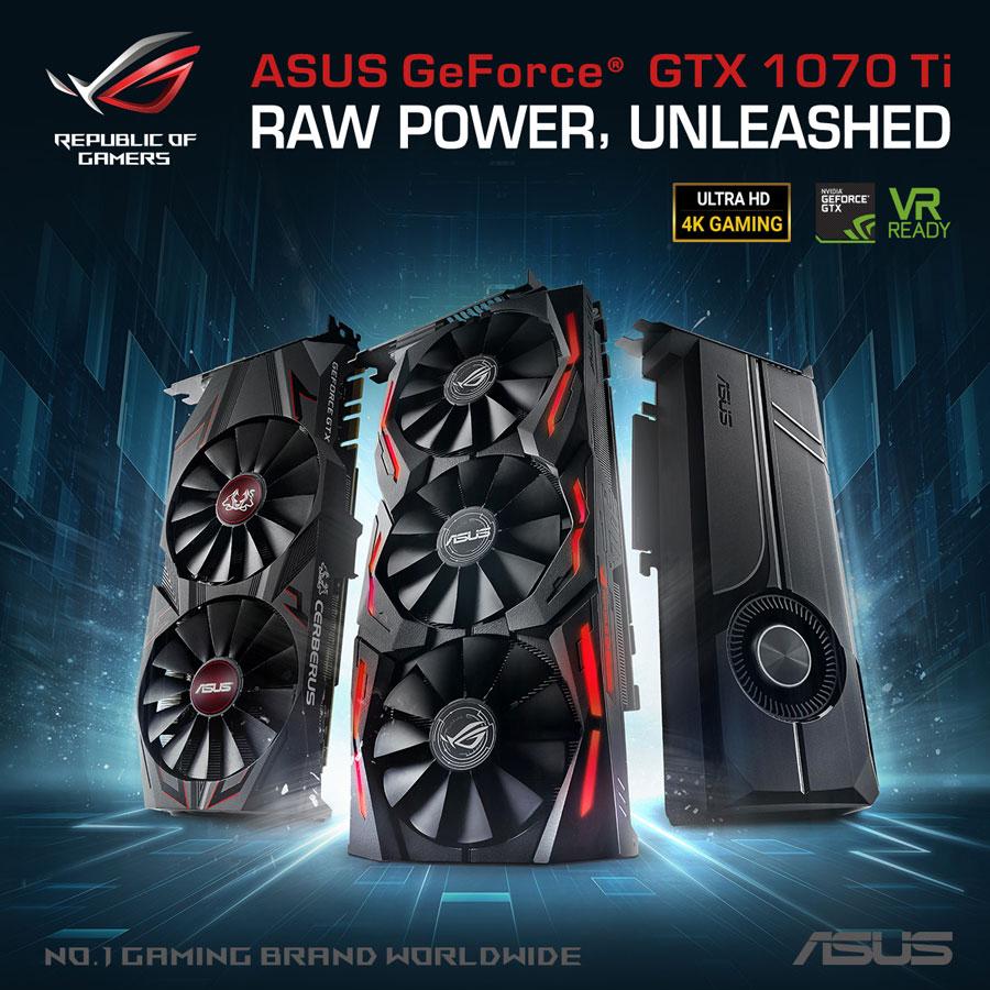 ASUS Announces GeForce GTX 1070 Ti Series Gaming Graphics Cards