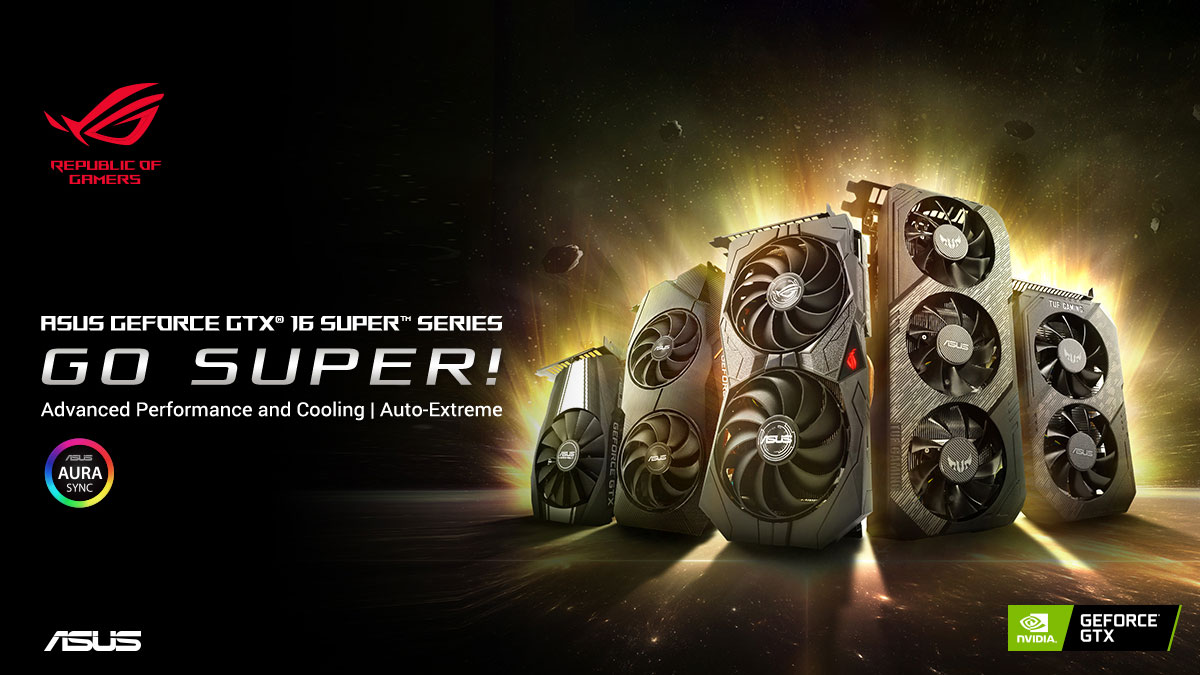 ASUS Announces GeForce GTX 1660 and 1650 SUPER