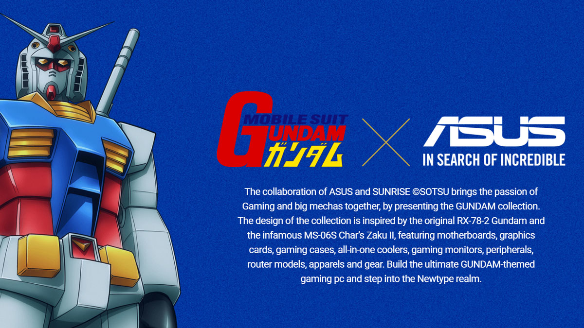 ASUS Announces Limited Edition Gundam Collection!