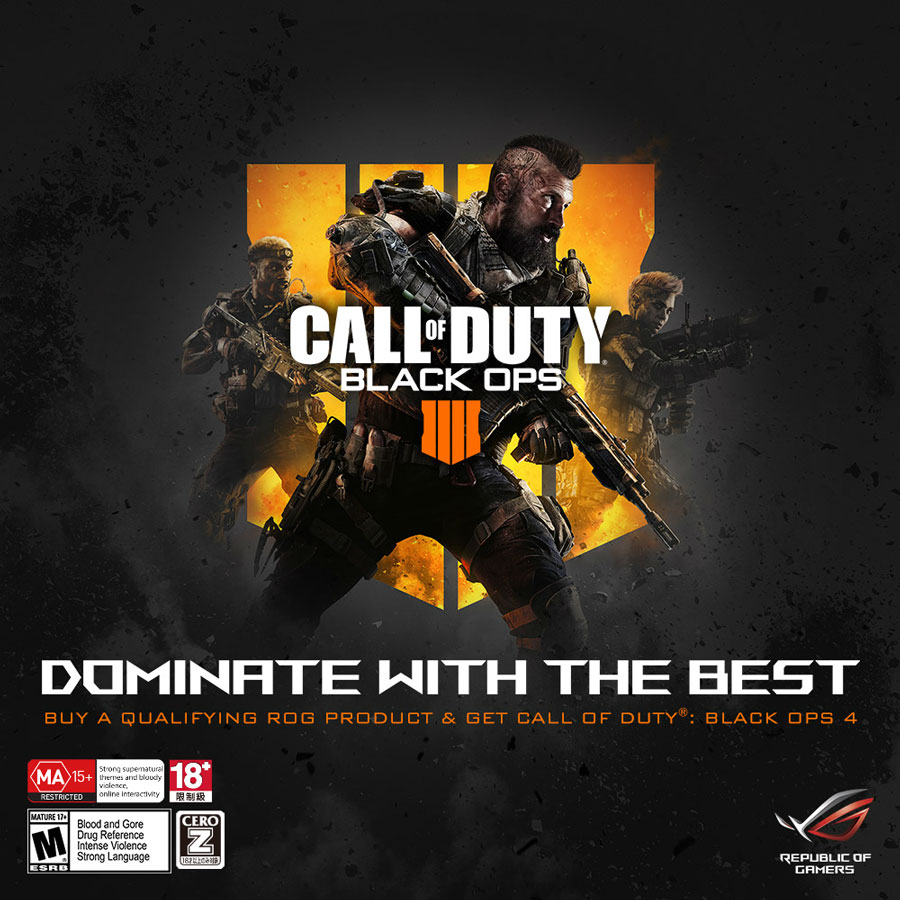 ASUS ROG Announces Partnership with Activision for Black Ops 4