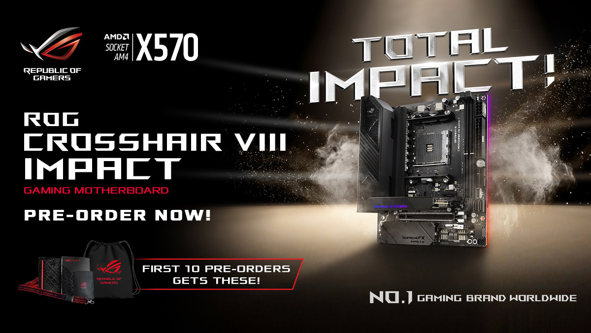 ASUS ROG Crosshair VIII Impact is Now Available