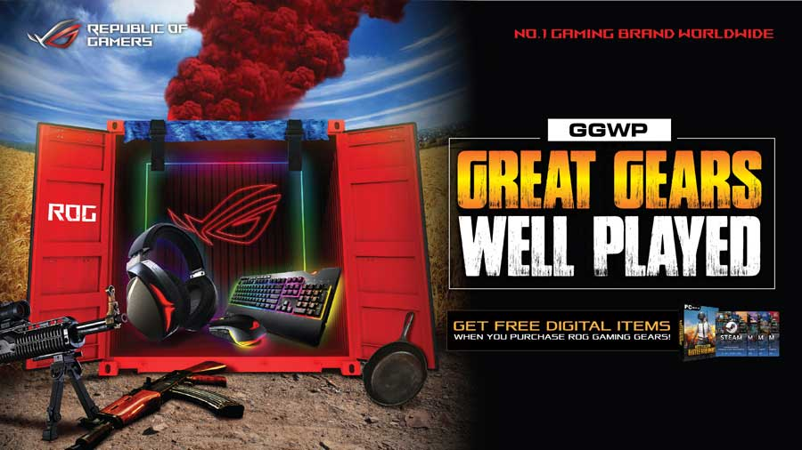 ASUS ROG Announces Great Gears, Well Played Promo