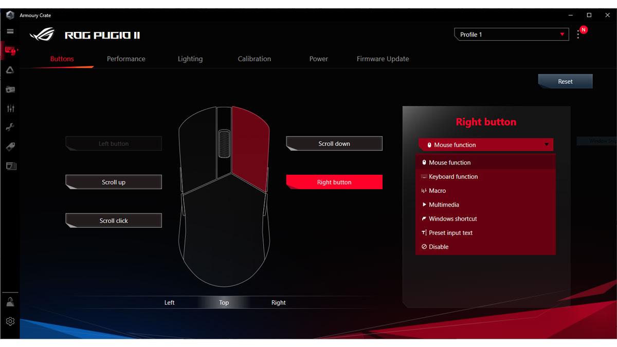 ASUS ROG Pugio II Software 1