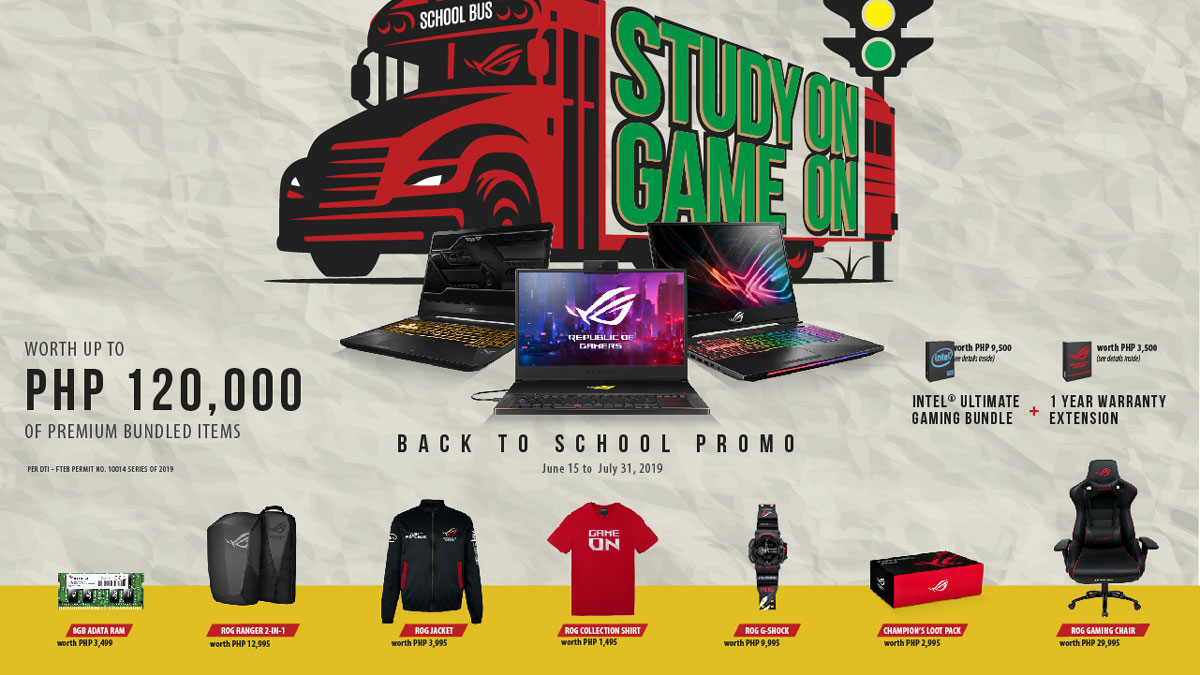 ASUS ROG Welcomes 2019 School Year with STUDY ON GAME ON Promo