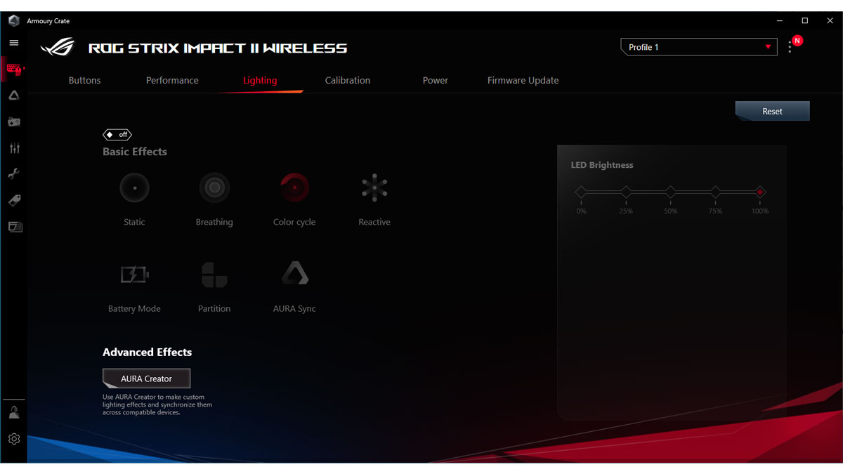 ASUS ROG Strix Impact II Wireless Images Software 3
