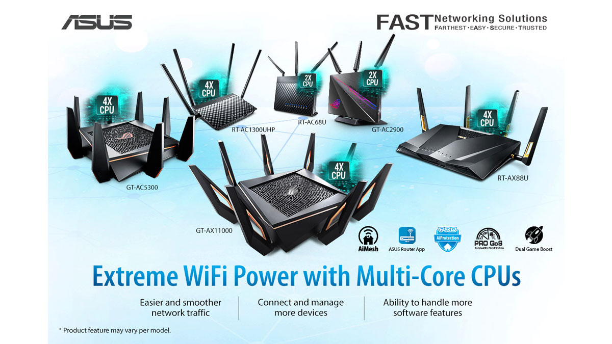 ASUS Shows Off Their Best Home Routers for 2020